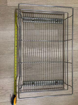 Pull out stainless steel drawer basket