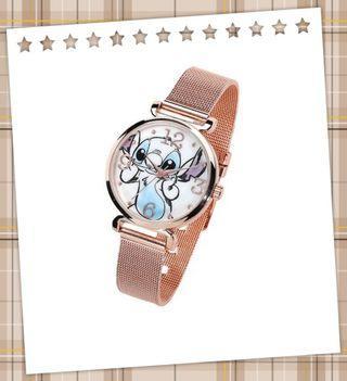 (8月到貨)代購全新迪士尼 史迪仔 Stitch 玫瑰金色 錶(沒有現貨)E