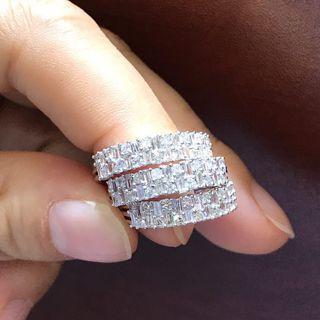 18k金特式梯方鑽石戒指💍共重0.50ct  團購推廣$2300👍🌟✨💫 11-17圈
