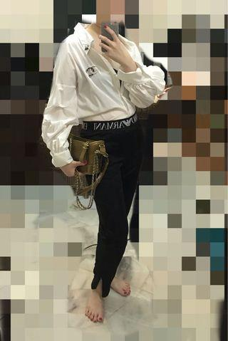 Zara Long Sleeve Oversized White Shirt