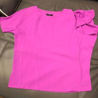 紫紅色上衣 韓國purple top