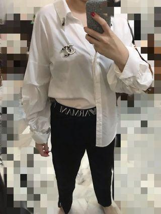 Zara Oversized White Shirt Long Sleeve