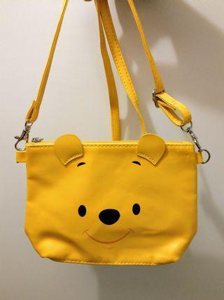 迪士尼小熊維尼可愛斜揹手袋 Disney Winnie the Pooh cute pouch bag