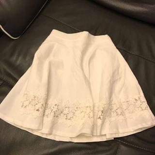 White skirt 韓國白色半裙