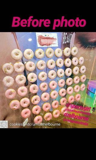 Donut Wall for hire. $80 (small) $175 (large) featured at Sportsgirl & Sugar Republic