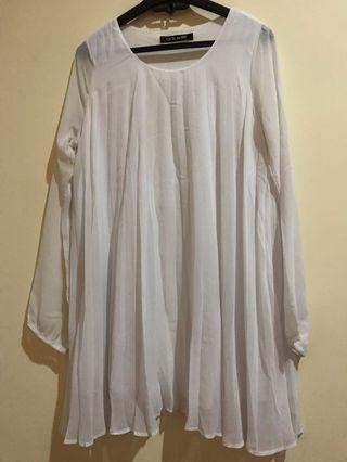 Blouse putih midi dress