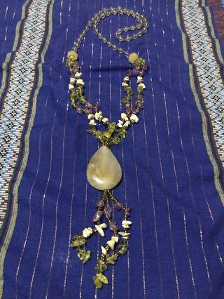 Combined Stone and Bead Necklace