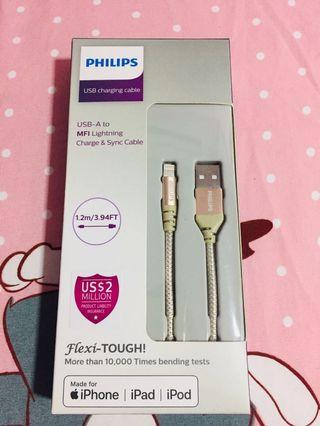 Brand-new Authentic Philips Iphone Ipad Ipod Usb Cable