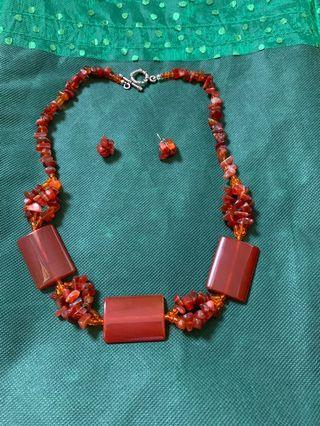 Mexican gemstone real set
