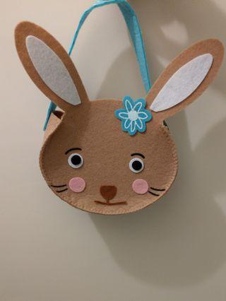 Easter Bunny felt bag 復活節兔小袋