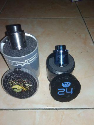 Jual 2 Automizer vape (RDA) Sultan Psyclone kryten 24mm & Twissted Messes 24mm Pro Series Authentic Nominus