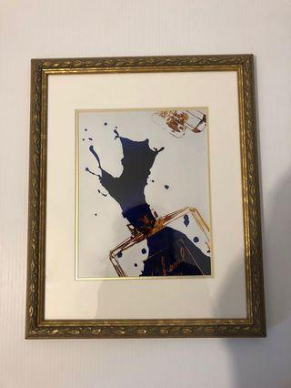 Chanel Abstract Parfum Art in Antique Gold Frame - 16.5 x 13.5 inches