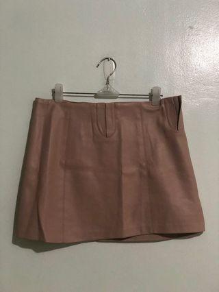 Zara Pastel Pink Leather Skirt