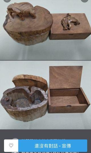 代售新舊泰國名片盒+熄煙盒 泰國木雕作品二個全帶走$150  單買各$100 還在