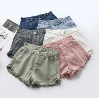 🆕️BN Casual Green Shorts Denim Casual Jeans 8550