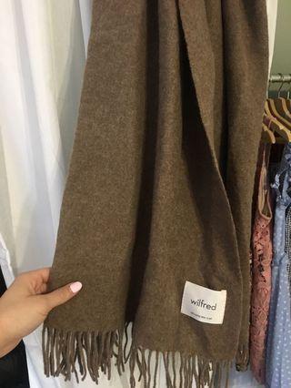Aritzia Wilfred Classic Wool Scarf