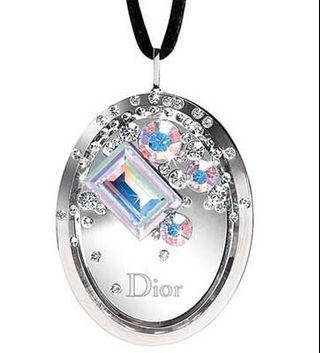 Dior Boreal Swarovski Crystal Pendant with Lip Balm - Rare