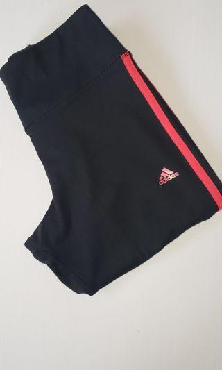 ADDIDAS TIGHTS - PINK STRIPES - NEW
