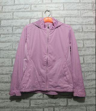 Jaket Sweater Hoodie Original Uniqlo pink not Adidas Nike Fila