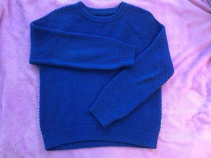 Japanese blue sweater
