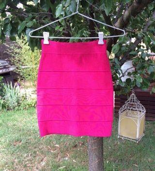 Hot Pink Bandage Skirt