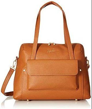 🚚 Jujube Wherever Ever Leather Diaper Bag - Brule