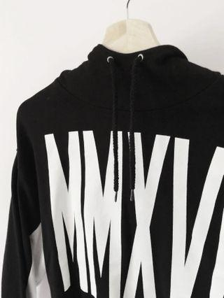 Cropped Black and White Hoodie
