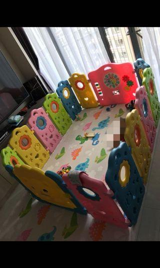 Used play yard for babies and children