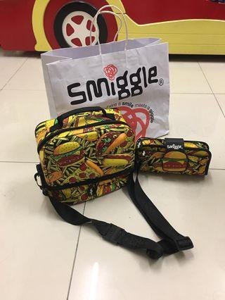 Smiggle Lunchbox with Starp & Pencil Case Smell Me Edition!