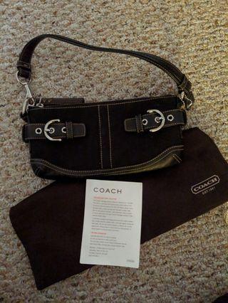 Black Coach Clutch