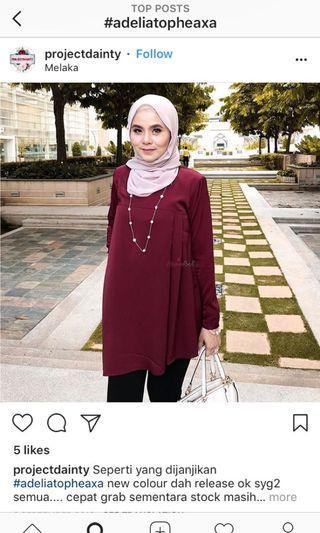 Heaxabell maroon tops