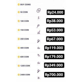 VLIVE COINS / KOIN VLIVE