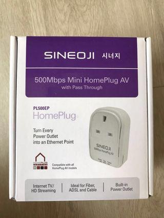 Sineoji 500mbps Mini Home Plug AV with Passthrough