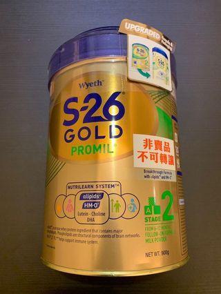 惠氏S26 s-26 gold 2 900g 奶粉 平衡車 美贊臣 尿片 marries 能恩 奶嘴 bb床