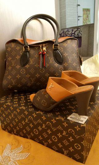 Set tas dan sandal LV like Ori