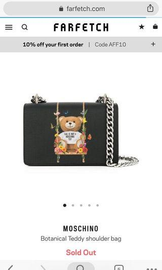 🚚 BN- Moschino Botanical Teddy Bear Shoulder Bag