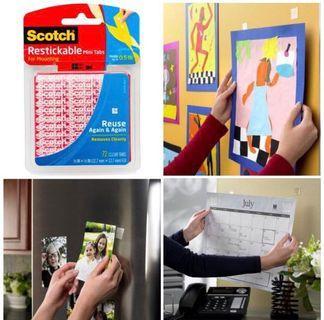Scotch 3M 可重複黏貼雙面膠片(72塊/盒)