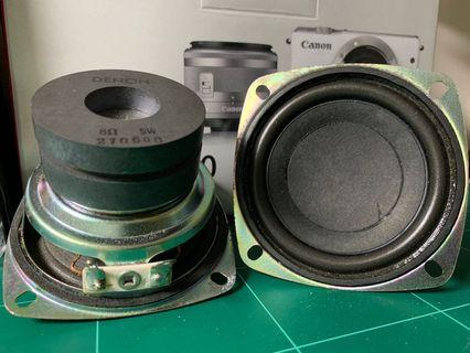 Denon3吋重低音細口徑喇叭, 5W, 8Ohm, 合家用, 車用, DIY
