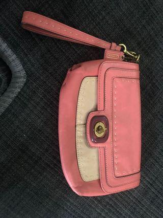 Coach leather wristlet original