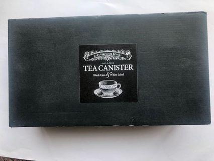 全新黑色茶葉罐