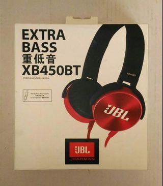 JBL重低音耳機XB450BT