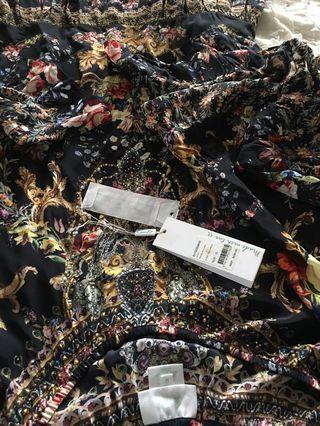 CAMILLA Friend In Flora Aline Frill OFFSHOULDER Dress size XL NWOT