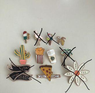 Cute cartoon brooch and pins