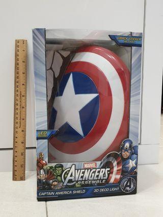 Captain America Shield 3D Deco wall light Marvel Avengers - Brand new