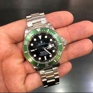 Rolex Green Submariner, Kermit, 16610LV