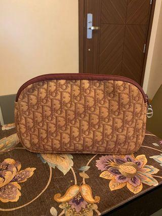 Authentic Christian Dior Burgundy Pouch