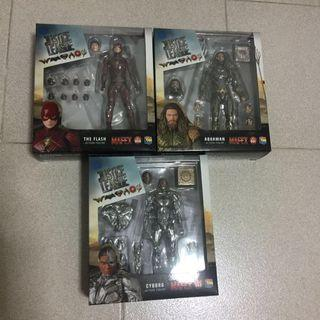 Mafex justice league set of 3
