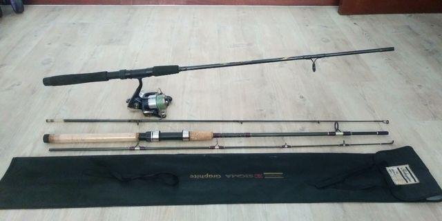 Shimano fishing rod and Daiwa reel