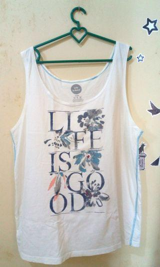 Tank top putih 'LifeisGood'