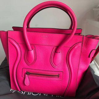 Celine Micro Pink Luggage